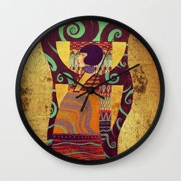 Dame Gold Wall Clock