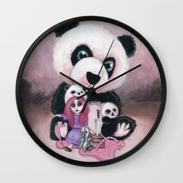 Candie and Panda Wall Clock