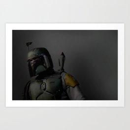 Boba Fett 'The Hunter'   Artist: Nick Clements Art Print