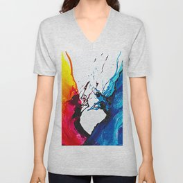Abstract Art Britto - QB292 Art Print Unisex V-Neck