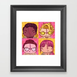 Homage to Female Ghostbusters Framed Art Print