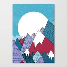 Blue Sky Mountains Canvas Print