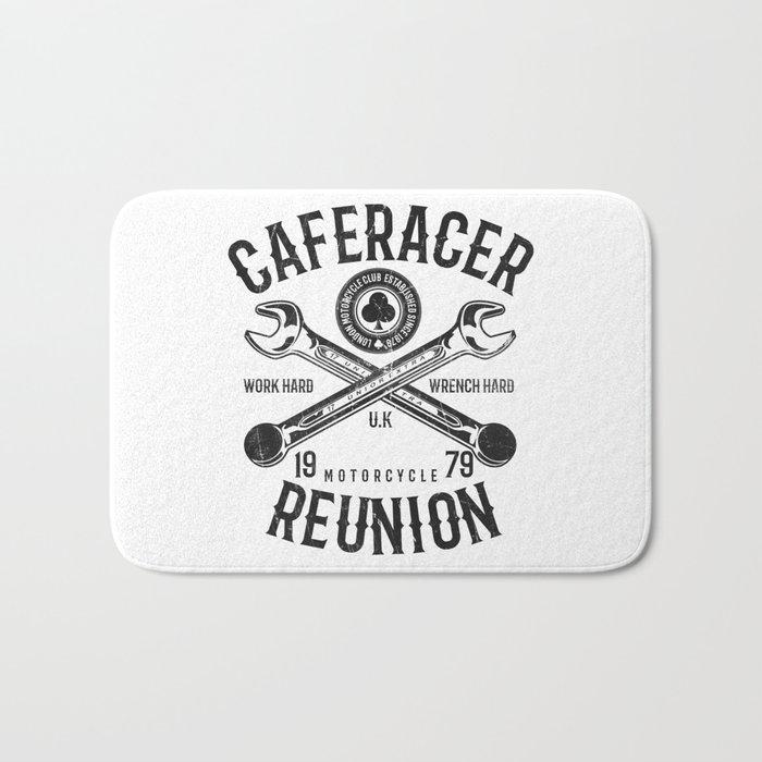 Cafe Racer Reunion Vintage Tools Poster Bath Mat