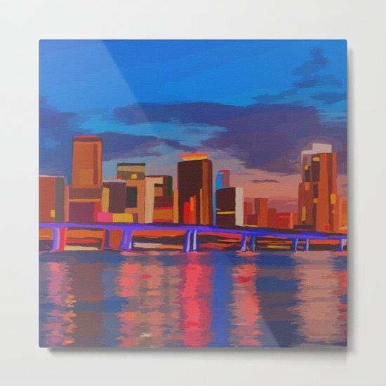 Miami Evening Metal Print
