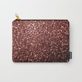 Beautiful Glam Marsala Brown-Red Glitter sparkles Carry-All Pouch