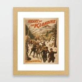 Vintage poster - Heart of the Klondike Framed Art Print