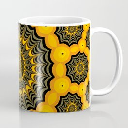 Spider webs, Halloween fractal art Coffee Mug