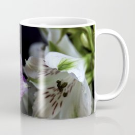 Floral bouquet. Purple and white flowers. Coffee Mug