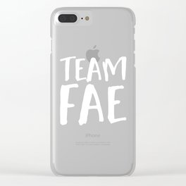 Team Fae - Inverted Clear iPhone Case