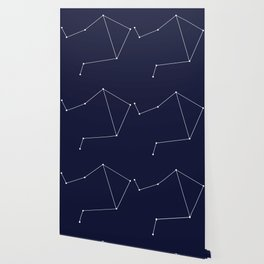 Libra Astrology Star Sign Blue Minimal Wallpaper