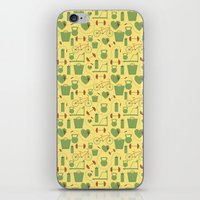 fitness iPhone & iPod Skins featuring Fitness  by S. Vaeth