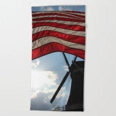Flag over Windmill Beach Towel