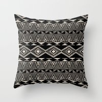 navajo Throw Pillows featuring Navajo by Stephanie Le Cocq