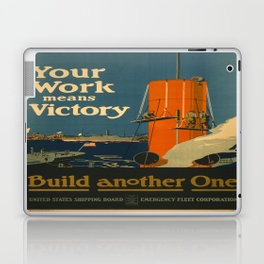 Vintage poster - Your Work Means Victory Laptop & iPad Skin
