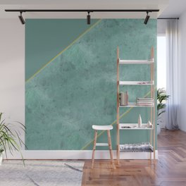 Emerald Green Marble with Gold Wall Mural