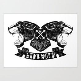 Panther Strength Art Print