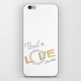 Christian Design - That's Love - John 3:16 iPhone Skin