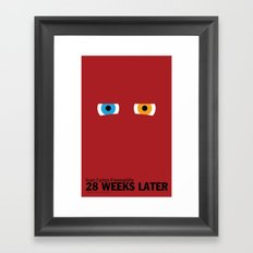 28 Weeks Later   Minimalist Movie Poster Framed Art Print
