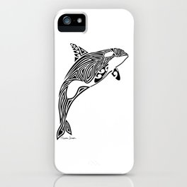 Tribal Orca iPhone Case