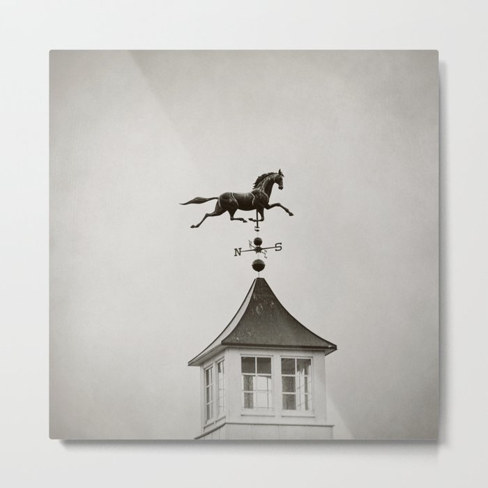 Horse Weathervane Metal Print