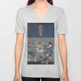Utagawa Kunisada  Japanese Woodblock Print Unisex V-Neck