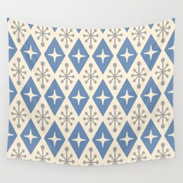 Mid Century Modern Atomic Triangle Pattern 124 Wall Tapestry