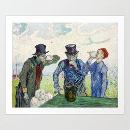 The Drinkers Art Print