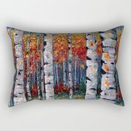 Aspen Fall by OLena Art  Rectangular Pillow