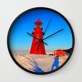 Climbing to the Lighthouse Wall Clock