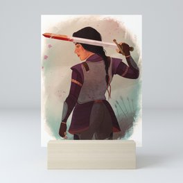 Lady Knight Mini Art Print