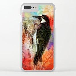 Acorn Woodpecker Clear iPhone Case