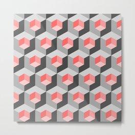 Kinetic art cubes Metal Print