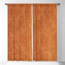 Farmhouse Style Original Camel Leather Oriental Design. Blackout Curtain