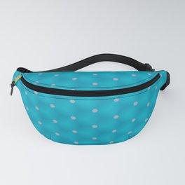 Bright Blue Poka Dot Design Fanny Pack