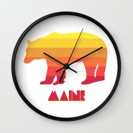 Maine Bear Wall Clock