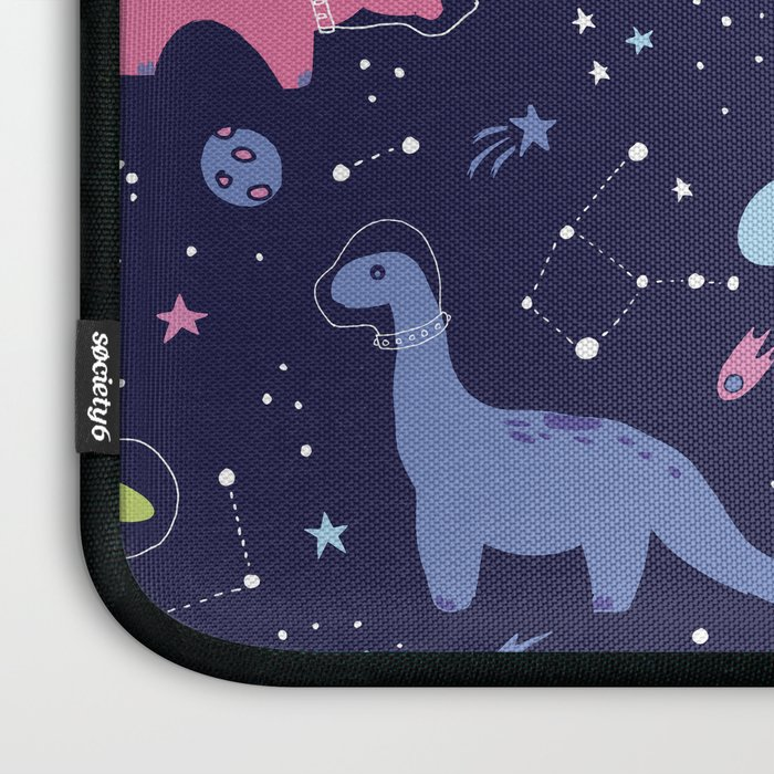 Dinosaurs in Space Laptop Sleeve