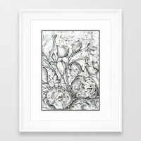 lace Framed Art Prints featuring Lace by Irina  Mushkar'ova