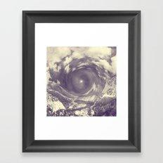 Embrace of the Tempest Heart Framed Art Print