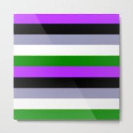 Genderqueer Pride Flag v2 Metal Print