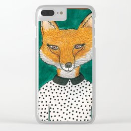Foxy Fox Clear iPhone Case