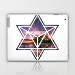 Modern Geometric Beach Sunset Water Reflections Laptop & iPad Skin