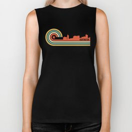 Retro Huntington West Virginia Skyline Biker Tank