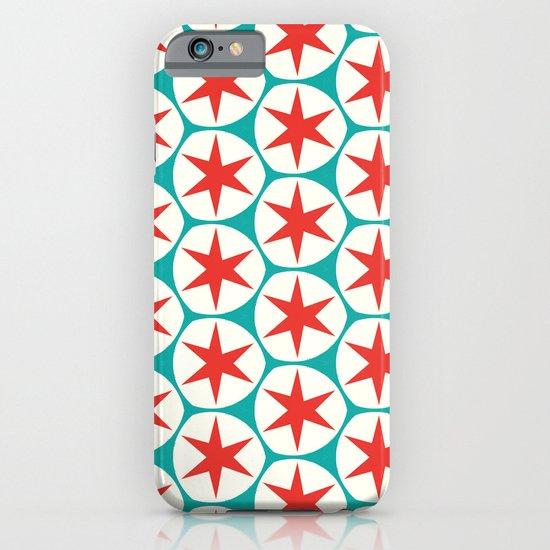 Retro Red Stars Pattern iPhone & iPod Case