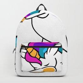 Dabbing Unicorn Volleyball Backpack