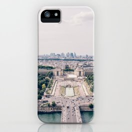 Parisian Cityscape - View from the Eiffel Tower iPhone Case