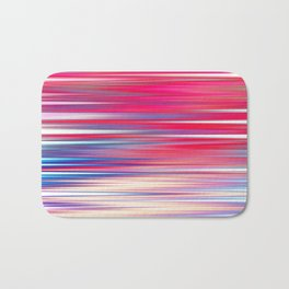 pink abstract with horizontal stripes Bath Mat