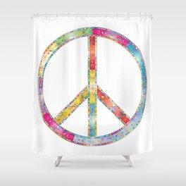 flourish decorative peace sign Shower Curtain