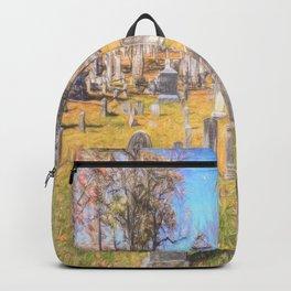 Sleepy Hollow Cemetery Sketch Backpack