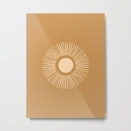 Sun Burst - Amber Gold Metal Print