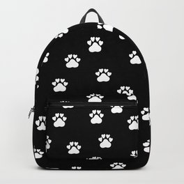 Cat's hand drawn paws in black and white Backpack